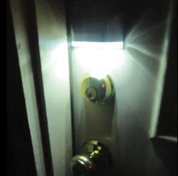 Anonymous verified customer review of Motion Sensor LED Light for Door Lock - No More Fumbling in the Dark!