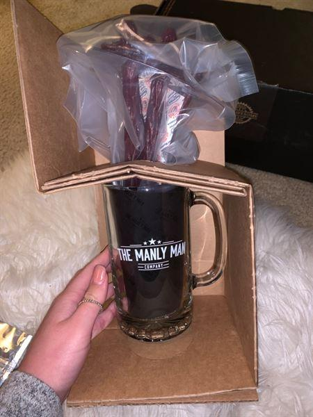 Amber Reis-Krugar verified customer review of Beef Jerky Flower Bouquet & Beer Mug