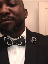 Ronnie S. verified customer review of Black on White Bow Tie
