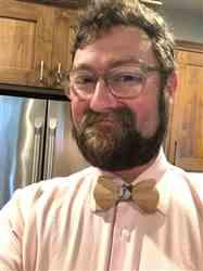 Betsy B. verified customer review of Raindrops Wooden Bow Tie