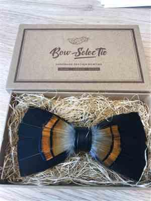 David B. verified customer review of Black Feather Bowtie