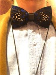 Karen T. verified customer review of Blue Polka Dot Feather Bow Tie