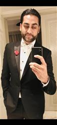 Rahul B. verified customer review of Red Diamond-Tip Tuxedo Bow Tie