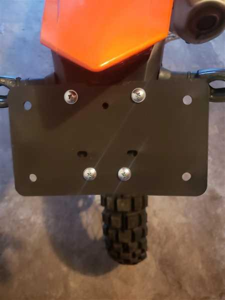 Mike Rubino  verified customer review of Sicass Universal-KTM-HQV License Plate Holder