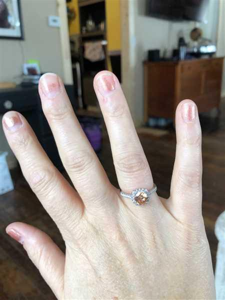 Lisa Doyle verified customer review of The Halo - Morganite