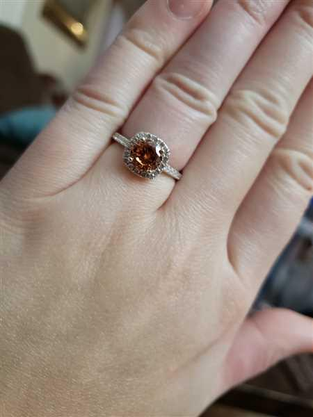 Kristie Haider verified customer review of The Halo - Morganite