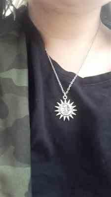 Elaine L. verified customer review of SUN-MOON NECKLACE