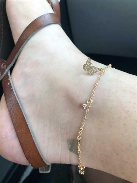Mary verified customer review of BUTTERFLY ANKLET