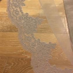 Renee verified customer review of Chapel Length Wedding Veil with Lace Starting from midway VG1012