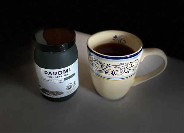Paromi Tea Organic Coconut Almond Black Tea, Full Leaf, in Pyramid Tea Bags Review