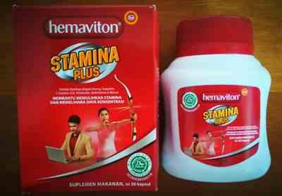 Anonymous verified customer review of Hemaviton Stamina Plus Botol - 30 Kapsul