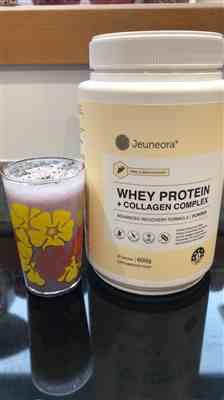 Amy Lusby verified customer review of Whey Protein Collagen Complex Powder - 600g