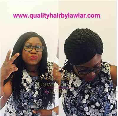 Kemmy verified customer review of Box Braids Fully Hand Braided Lace Wig (1)