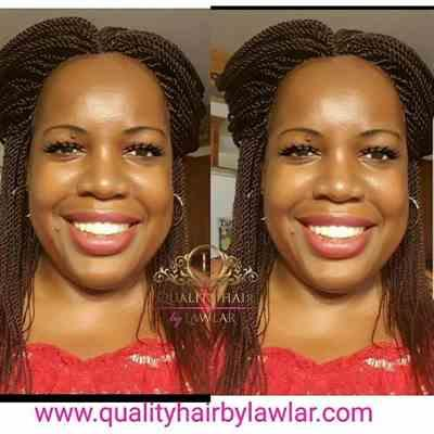 Meyameye verified customer review of Senegalese Twist Fully Hand Braided Lace Wig- (#33)