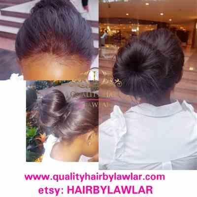 Mankanadine verified customer review of 360 Lace Frontal Brazilian Straight Human Hair Wig