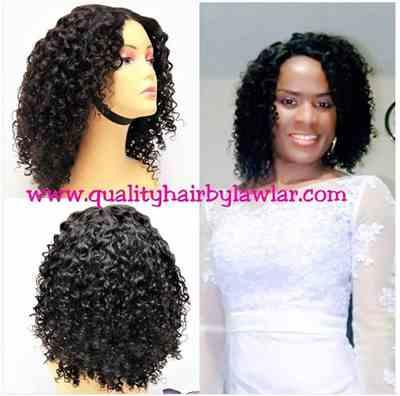 Belindaebai verified customer review of Brazilian Jerry Curls Human Hair Lace Front Wig