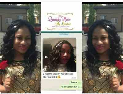 Ndidi_326 verified customer review of Brazilian Body Wave Virgin Human Hair Extensions (Jet Black)