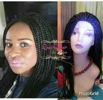 Aiye01 verified customer review of Box Braids Fully Hand Braided Lace Wig (1)