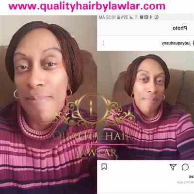 Judyowensny verified customer review of Micro Braids Fully Hand Braided Lace Wig (30/35)