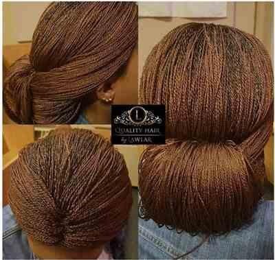 Fibelegbu verified customer review of Micro Braids Fully Hand Braided Lace Wig (30/35)