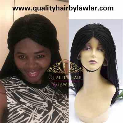 Ants87 verified customer review of Micro Twist Fully Hand Braided Lace Wig (1B)