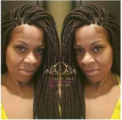 Kenny verified customer review of Box Braids Fully Hand Braided Lace Wig (99j)