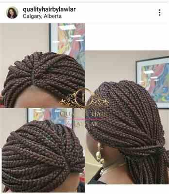 Olayemi verified customer review of Box Braids Fully Hand Braided Lace Wig (99j)