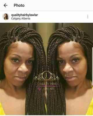 Kim verified customer review of Box Braids Fully Hand Braided Lace Wig (33)