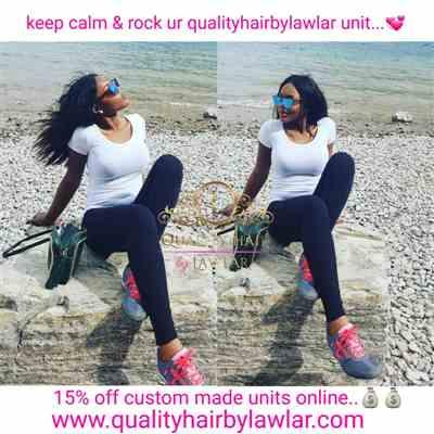 Manka verified customer review of Brazilian Human Hair Silky Straight Wide Lace Closure Wig (16)