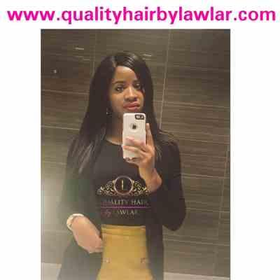 Ifydikeocha verified customer review of Brazilian Human Hair Silky Straight Wide Lace Closure Wig (16)