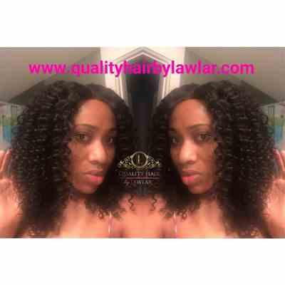 Ndidi_326 verified customer review of Brazilian Deep Curls Human Hair Lace Front Wig