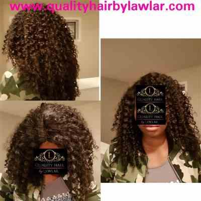 Moji_adebajo verified customer review of Brazilian Deep Curls Human Hair Lace Front Wig
