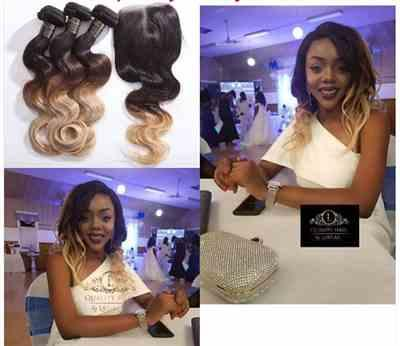Princessmanka verified customer review of Russian Body Wave Ombre Human Hair Lace Front Wig