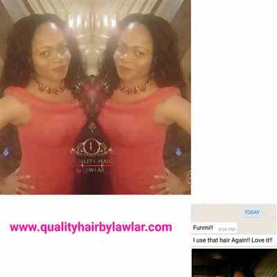 Ada verified customer review of Peruvian Water Wave Human Hair 3pcs Bundle & Lace Closure Deal