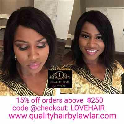 Wunmi verified customer review of Brazilian Human Hair 7x7 Lace Closure Wig (12)