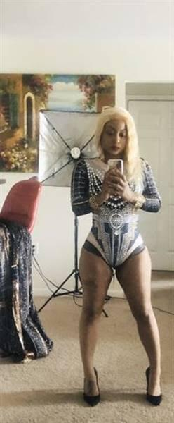 Menfreya C verified customer review of Love Goddess Diamante Bodysuit Set (Rhinestones)(Ready to Ship)