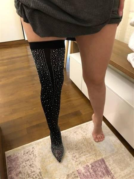 A***i verified customer review of Moon Walk Diamante Sock Boots
