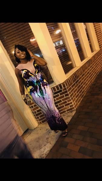 Tashae  verified customer review of Rachael Multi Color Luxury Dress