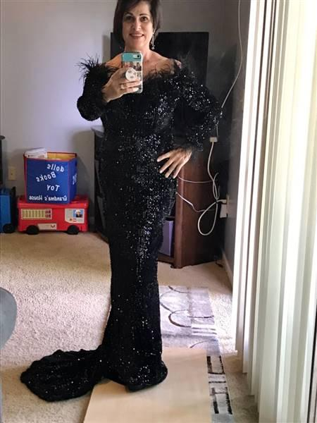 Sandy K. verified customer review of Savage Feather Sequin Maxi Dress(Ready To Ship)