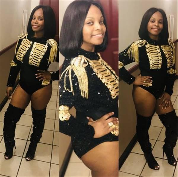 Gwendolyn P verified customer review of Salute Sequin Chain Military Bodysuit