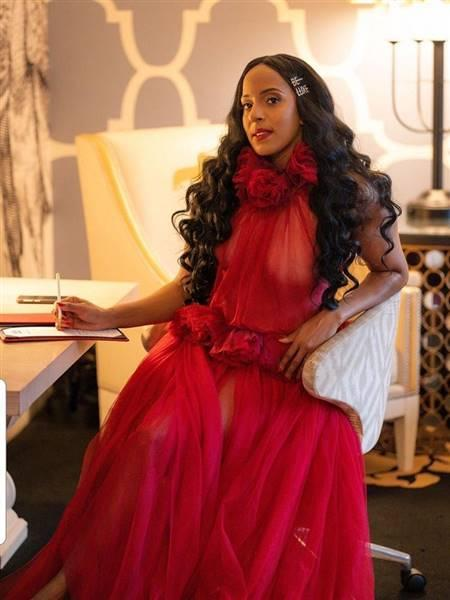 Thedaughterofra verified customer review of Damsel In Distress Red Halter Maxi Dress