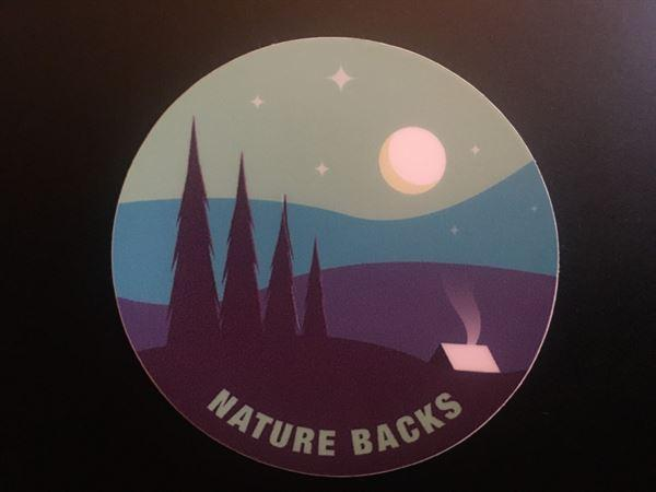 Nature Backs  (2) Camping Stickers  Review
