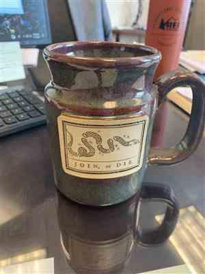 Rob W. verified customer review of Join or Die Tankard