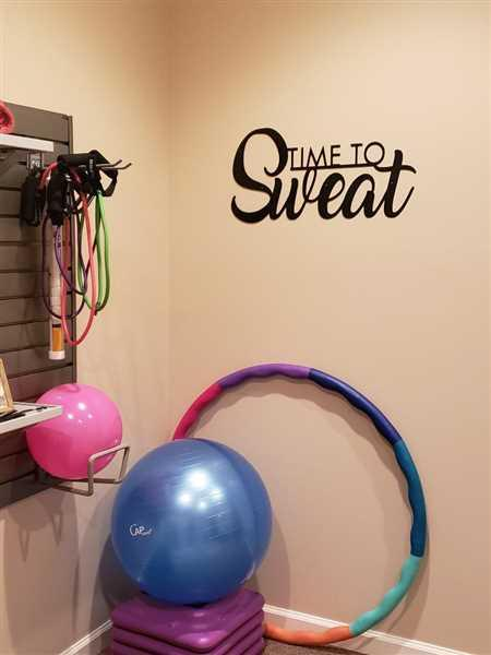 Maker Table Time to Sweat - Home Gym Sign - Work Out, Exercise, Biking Decor Review