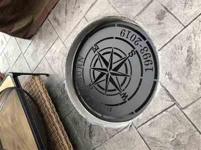 Craig H. verified customer review of Personalized Compass Rose Metal Sign - Nautical Established Wedding Gift Wall Art
