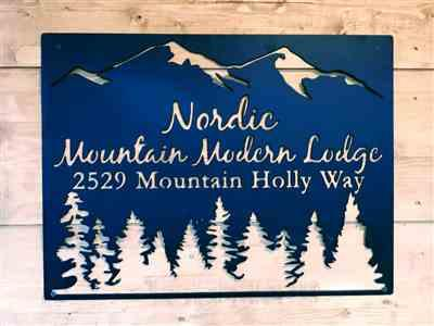 John Hayes verified customer review of Personalized Metal Mountain Sign - Cabin, Tree House, Clubhouse Wall Art - Mountains, Pine Trees