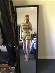 Georgia S. verified customer review of Tamsin Crop - Yellow Check