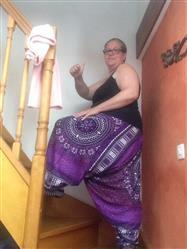 Anne A. verified customer review of Sarouel grande taille violet mandala