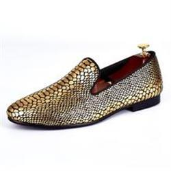 Nhat N. verified customer review of Gold Snake Skin Pattern Style Men Loafers Shoes
