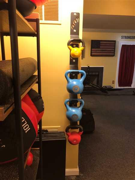 Karrie Boswell verified customer review of Kettlebell Storage